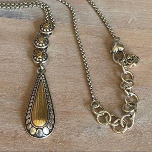 Brighton 2 Tone Reversible Necklace